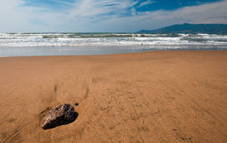 Beach in Tuscany Royalty Free Stock Photos