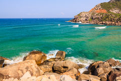 Beach. At Tuy Hoa city, Phu Yen province, Vietnam Royalty Free Stock Image