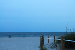 Beach at twilight. Cape Florida beach in the Bill Baggs State park in late afternoon early evening. Key Biscayne, south Florida Royalty Free Stock Photo