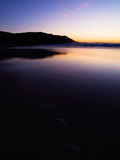 Beach at twilight in Ferrol, Galicia, Spain. Stock Photography