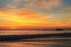 Beach twilight Stock Photography