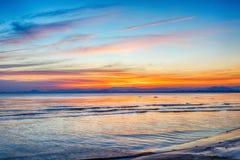Beach on twilight time Stock Photos