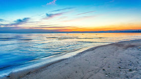 Beach on twilight time Royalty Free Stock Images