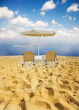 Beach and two chairs Stock Image