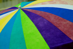 Beach Umbrella. Colorful beach umbrella at the sea shore royalty free stock image
