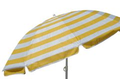 Beach umbrella. On white background stock photo