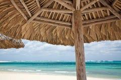 Beach umbrella Stock Images