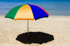 Beach Umbrella. In the tropical sunshine Stock Images