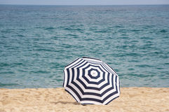 A beach umbrella Royalty Free Stock Photos