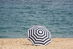 A beach umbrella Royalty Free Stock Images