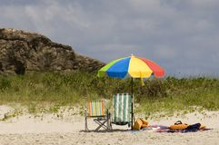 Beach Umbrella. A desirable umbrella for a sunny day at the beach Royalty Free Stock Photos