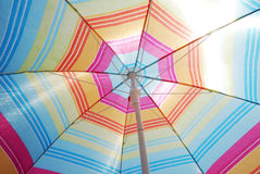 Beach umbrella. Colorful beach umbrella - abstract bakground Stock Image