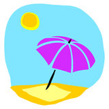 Beach umbrella. Illustration depicting a corner of beach umbrella Royalty Free Stock Photo