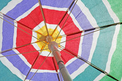 Beach umbrella background Royalty Free Stock Photography