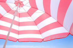 Beach umbrella background Stock Photo