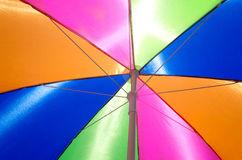 Beach umbrella background Royalty Free Stock Image