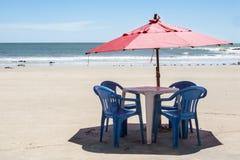 Beach umbrella on the beach Royalty Free Stock Photography