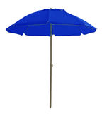 Beach umbrella - blue Stock Photo
