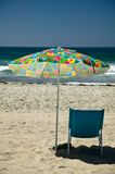 Beach umbrella and chair Pacific Beach San Diego Stock Images