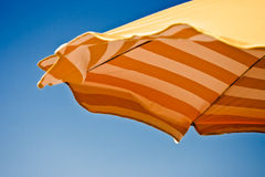 Beach Umbrella - clipping path included Royalty Free Stock Images