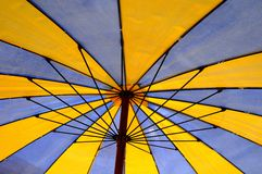 Beach umbrella detail Royalty Free Stock Images