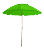 Beach umbrella - green. Green beach umbrella isolated on white. Clipping path included Stock Photo