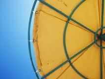 Beach umbrella. Hot days sun. Beach stock images