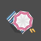 Beach Umbrella Icon Vector Illustration Stock Photos