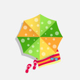 Beach Umbrella Icon Vector Illustration Royalty Free Stock Photo