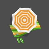 Beach Umbrella Icon Vector Illustration Stock Images