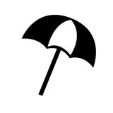 beach umbrella isolated icon design Stock Photography