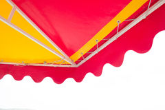 Beach umbrella isolated on white background Stock Photo