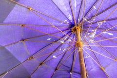 Beach Umbrella with Rust Stock Images