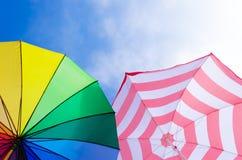 Beach umbrella's background Royalty Free Stock Photo