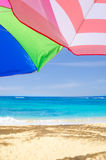 Beach umbrella's background Royalty Free Stock Image