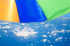 Beach umbrella's background Stock Photos