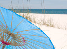 Beach umbrella at seashore Royalty Free Stock Photo
