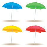 Beach umbrella solid. A collection of beach umbrellas in solid colors Stock Images