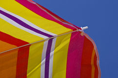 Beach umbrella on a summer day Royalty Free Stock Photography