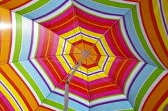Beach umbrella on a summer day Royalty Free Stock Photos