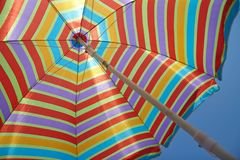 Beach umbrella in a sunny day Royalty Free Stock Photos