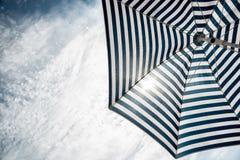 Beach umbrella on sunny day Royalty Free Stock Photos