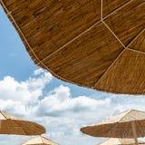 Beach umbrella on sunny day Royalty Free Stock Photo