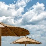 Beach umbrella on sunny day Stock Image