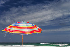 Beach umbrella on a sunny day Stock Image