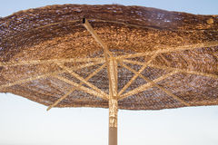 Beach umbrella on a sunny day Royalty Free Stock Photos