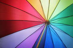 Beach umbrella. A on sunny summer day Royalty Free Stock Images
