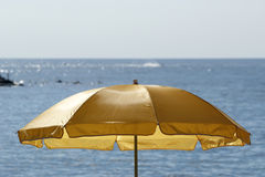 Beach umbrella (sunshade) Royalty Free Stock Photo