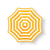 Beach umbrella, top view Stock Photo