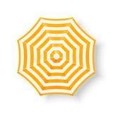 Beach umbrella, top view stock photo